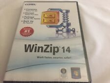 Corel WinZip 14 Compress Encrypt Package Back UP- New Sealed