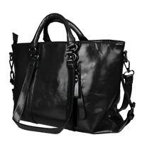 Fashion Handbag Lady Shoulder Oiled Leather Bag Tote Purse Women Messenger Bag