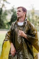 Survival General Lightweight Rain Gear Poncho Emergency Cover Shelter Pocket NEW