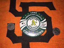 Oakland Athletics A's 1988 American League  Champions Button Large