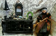 Witch's Elegant Vanity 45 Piece Miniature Halloween 1:6 Scale Haunted House Prop