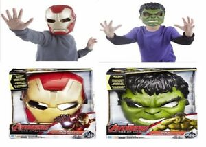 Marvel Avengers Age of Ultron Hulk Ironman Voice Changer Mask 5+ Toy Iron Man
