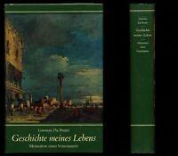 LORENZO DA PONTE★Geschichte meines Lebens–Memoiren eines Venezianers★1969★S. GUT