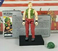 Original 1988 GI JOE WILD CARD V1 ARAH not complete UNBROKEN figure TIGHT file