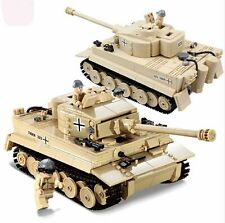 Tiger Tank Building blocks kit & Army Figures Building Toy Brick CUSTOM WWII