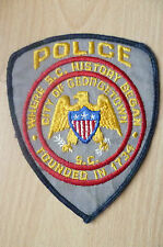 Patches- CITY OF GEORGETOWN USA POLICE PATCH (NEW, apx.11.5x10.2cm)