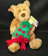 Gund Christmas Plush Teddy Bear Stuffed Animal Lights Up Plays Music 12""