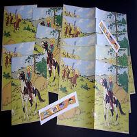 Lot de 10 Mini Poster planche sur Tintin en Amérique '1943' Hergé Fac-similé