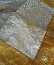 Tibetan silk brocade lotus design white altar cloth / table cloth /shrine /cover