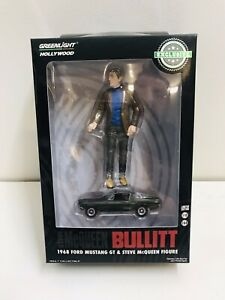 GREENLIGHT HOLLYWOOD-1:18 Steve Mcqueen figure + 1:64 1968 Mustang Bullitt