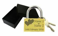 Personalised Wedding Gift Engraved 40mm Love Lock Padlock Present Anniversary