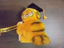 Dakin Black Hat Congratulations  Stuffed  Plush Garfield Graduation Clip On
