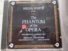 The Phantom Of The Opera - Highlights - Crawford, Brightman - PMDC France CD