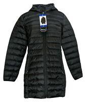 Adventure Women's Sz L Hooded Zipper Front Polyester Black