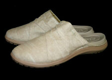 NWOT CROCS 205277 Capri Dual Comfort Canvas Mule Sandal Wo's 11 Khaki Tumbleweed