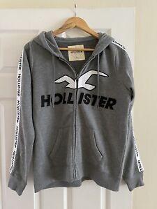 Grey Hollister Zip Hoodie L