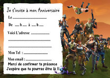 5 cartes invitation anniversaire  FORTNITE 05
