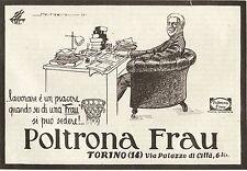 PUBBLICITA' 1925 POLTRONA FRAU PELLE TORINO MENDEZ STYLE DESIGN  COMODITA'