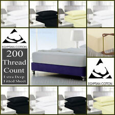 Draps-housses multicolore pour le lit Chambre en 100% coton