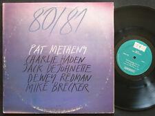 PAT METHENY 80/81 2 x LP ECM-2-1180 US 1980 Charlie Haden Jack DeJohnette Fusion