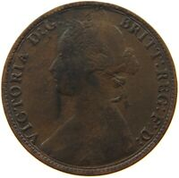 GREAT BRITAIN HALFPENNY 1874 H #s50 195