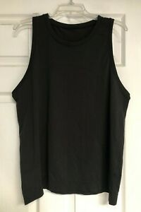 LULULEMON Mens Black Sleeveless Workout Athletic Tank Top T-Shirt
