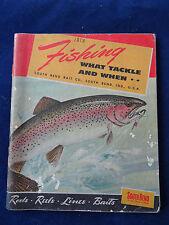 Un Vintage South Bend Pubblicità catalogo di pesca per 1950