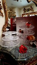 QUALITY 3 Tier/Separate Glass Cake Dessert Plate Stand Server GREAT DESIGN NEW!