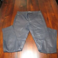 Vince womens soft leather pants navy blue size 2 trouser pockets skinny leg