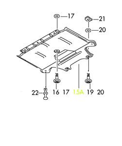 Audi A5 S5 12 - 17 OEM Engine Splash Shield Guard 8K1863822S GENUINE