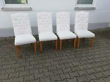 Chair Set 4x Chairs Pads Lehn Chesterfield Solid Wood Dining Room Seat in Stock