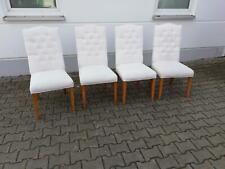 Stuhl Set 4x Stühle Polster Lehn Chesterfield Massiv Holz Esszimmer Sitz Lagernd