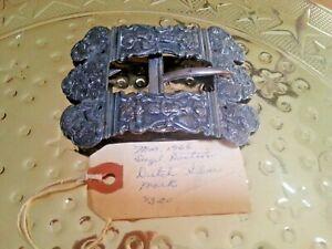 Antique Dutch Silver Belt Buckle - Judaica - Hallmarked