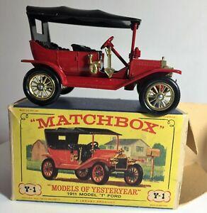 "Y1 Matchbox Lesney, Models of Yesterday, 1911 Model ""T"" Ford, Original Box"