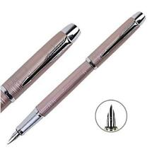 Perfect Parker Pen IM Series Pink Grid Silver Clip 0.5mm Fine Nib Fountain Pen