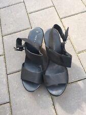 New Look Black Wedges Sandals Heels Shoes Uk3