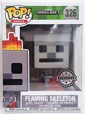 Funko Pop Flaming Skeleton # 326 Minecraft Exclusive Vinyl Figure Brand New