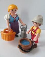 Playmobil dollshouse/castle figures: Traditional/country lady & boy NEW