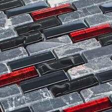 Tessere mosaico in vetro pietre di vetro pietra naturale nero rosso marmo