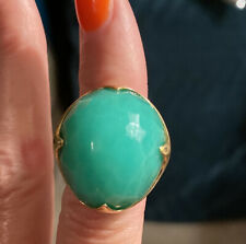 Ippolita Chrysoprase & 18k Gold King Ring Size 8