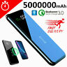 New Portable 5000000mAh QI Wireless Fast Charge Power Bank 2USB Battery Charger