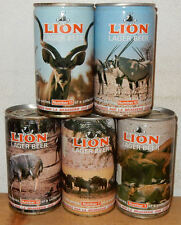 5 LION Lager Beer with FRENCH TXT cans from SOUTH AFRICA (34cl)