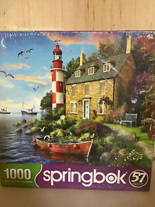 Springbok's 1000 Piece Jigsaw Puzzle The Cottage Lighthouse New Sealed