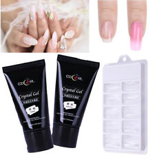 30ml Quick Poly Building Gel +100pcs Gel Mold Tips Finger Extension Nail DIY Set