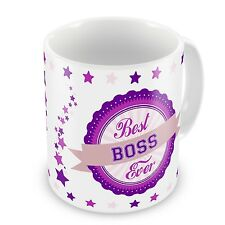 Best Boss Ever Novelty Gift Mug - Pink / Purple