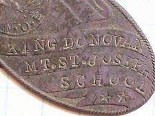 PENDANT OVAL BRONZE COLOR KING DONOVAN MT. ST. JOSEPH SCHOOL BUFFALO N.Y. B.P. O