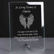 Personalised Engraved Baby Glass Memorial Plaque - Memorial, Loving Memory Gifts