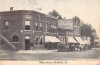 Postcard Main Street in Sheffield, Iowa~124805