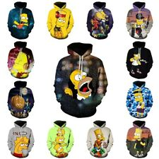 3D The Simpsons Unisex Mens Womens Hoodie Sweatshirt Pullover Jumpers Top Tee