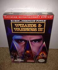Wizards & Warriors III 3: Kuros Visions Of Power BRAND NEW! SUPER RARE! NES